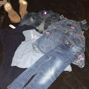 denim bundle lot 24 mo jeans jacket Lula roe boots
